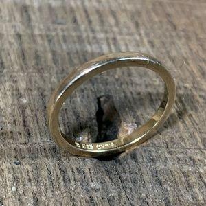 Ross Simons 925 Sterling Gold Tone Ring